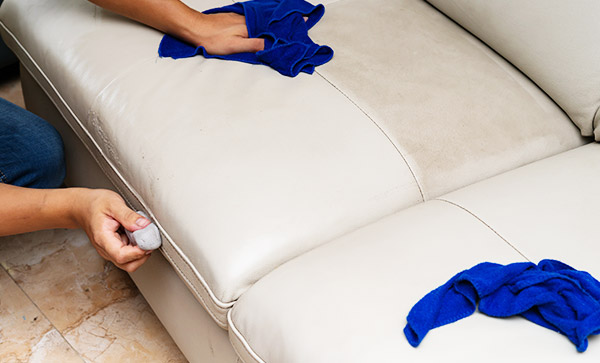 Professional Leather Lounge Suite Cleaning Services